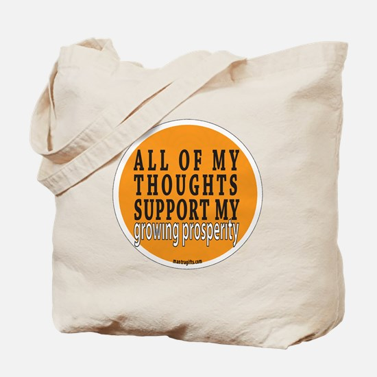 Growing Prosperity Affirmation Tote Bag