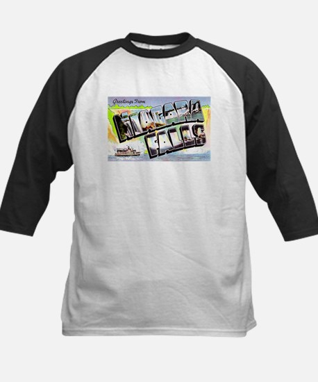 Niagara Falls Greetings Kids Baseball Jersey