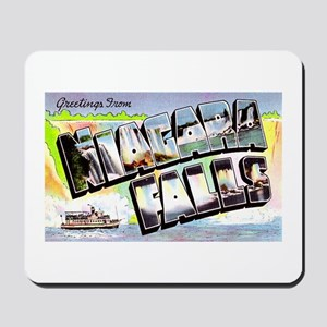 Niagara Falls Greetings Mousepad