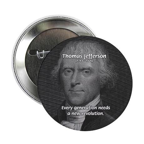 "Revolution Thomas Jefferson 2.25"" Button (10 pack)"