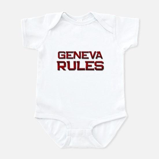 geneva rules Infant Bodysuit