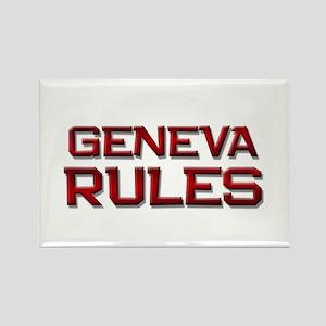geneva rules Rectangle Magnet