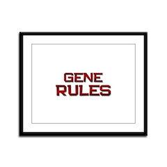 gene rules Framed Panel Print