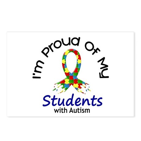 Proud Of My Autistic Students 1 Postcards (Package