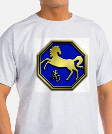 Chinese Astrology: Horse Ash Grey T-Shirt