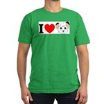 I Love ... Men's Fitted T-Shirt (dark)
