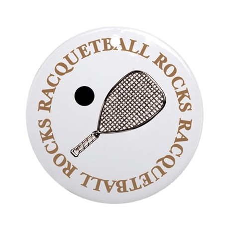 Racquetball Rocks Ornament (Round)