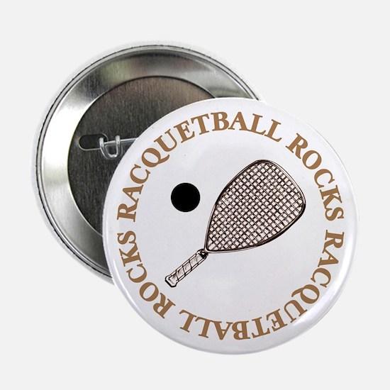 """Racquetball Rocks 2.25"""" Button"""