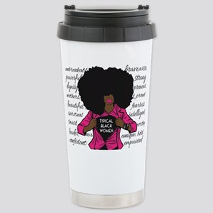 Typical Black Women Logo Travel Mug 16 Oz Mugs