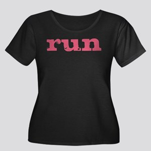 run - pink Plus Size T-Shirt