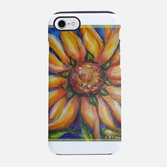 sunflower, cheerful art, iPhone 7 Tough Case