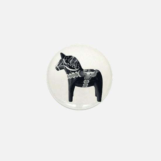SWEDISH horse Mini Button