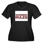 garrison rules Women's Plus Size V-Neck Dark T-Shi