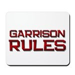 garrison rules Mousepad