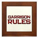 garrison rules Framed Tile