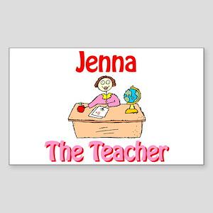 Jenna the Teacher Rectangle Sticker