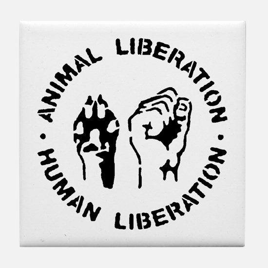 Cute Animal rights Tile Coaster