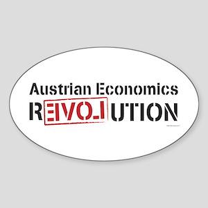 Austrian Economics Revolution Oval Sticker