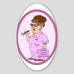 Cosmetics Oval Sticker