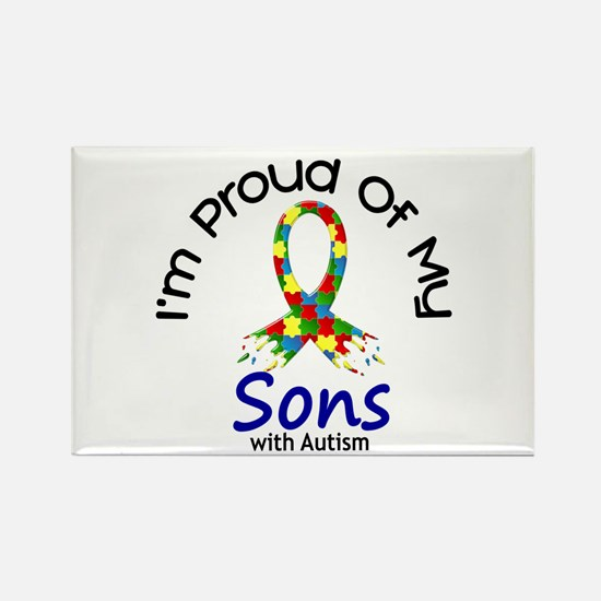 Proud Of My Autistic Sons 1 Rectangle Magnet