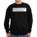 second fastest knitter in the Sweatshirt (dark)