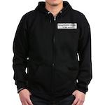 second fastest knitter in the Zip Hoodie (dark)