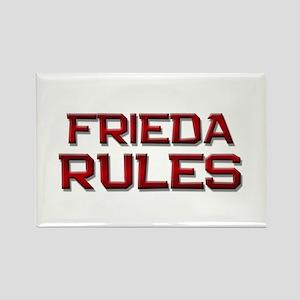 frieda rules Rectangle Magnet