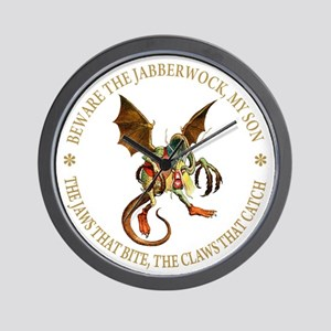 BEWARE THE JABBERWOCK Wall Clock