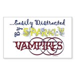 Distracted By Sparkly Vampires Bumper Sticker