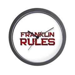 franklin rules Wall Clock