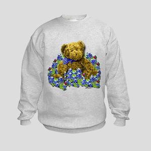 Bluebonnet Bear Kids Sweatshirt