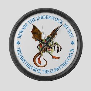 BEWARE THE JABBERWOCK Large Wall Clock