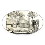 Hawaiian Village Oval Sticker