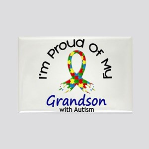 Proud Of My Autistic Grandson 1 Rectangle Magnet