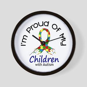 Proud Of My Autistic Children 1 Wall Clock