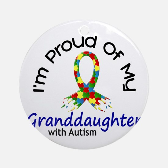 Proud Of My Autistic Granddaughter 1 Ornament (Rou