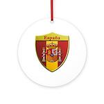 Spain Metallic Shield Round Ornament
