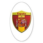 Spain Metallic Shield Sticker