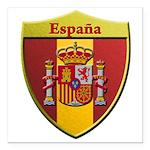 Spain Metallic Shield Square Car Magnet 3