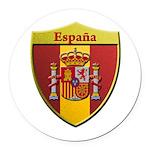Spain Metallic Shield Round Car Magnet