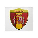 Spain Metallic Shield Throw Blanket