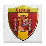 Spain Metallic Shield Tile Coaster