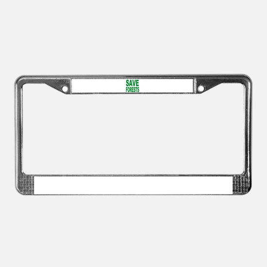 Funny Save whales License Plate Frame