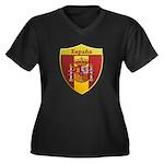 Spain Metallic Shield Plus Size T-Shirt