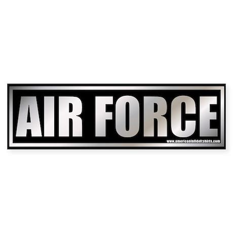Metalic Air Force Bumper Sticker