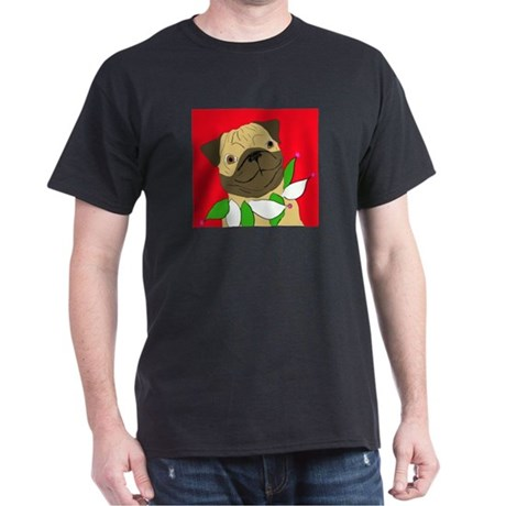 Holiday Party Pug Black T-Shirt