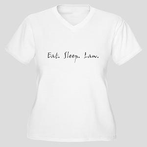Eat. Sleep. Law. Women's Plus Size V-Neck T-Shirt