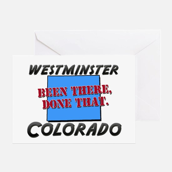 westminster colorado - been there, done that Greet