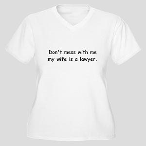 My wife's a lawyer Women's Plus Size V-Neck T-Shir