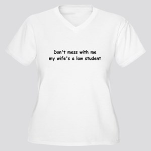 My wife's a law student Women's Plus Size V-Neck T